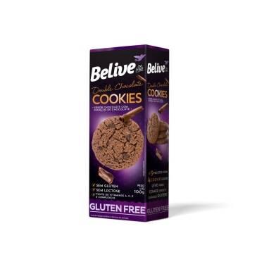 Onde comprar Cookies Double Chocolate sem Glúten e Sem Lactose 100g - BeLive
