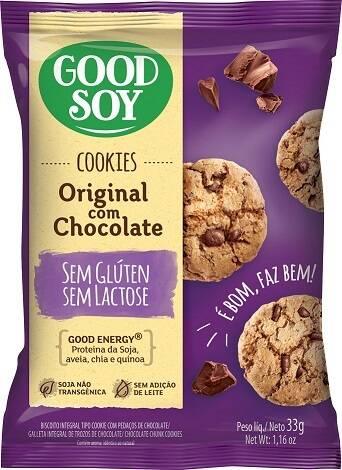 Onde comprar Cookies Original com Gotas de Chocolate sem Glúten e Sem Lactose - GoodSoy