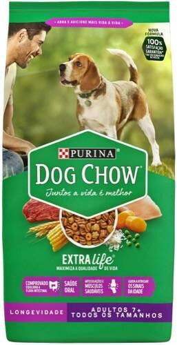 Onde comprar Purina Dog Chow Adultos Com Mais De 7 Anos Pacote 1 Kg