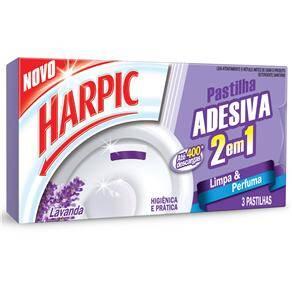 Onde comprar Desodorizador Para Vaso Sanitário Harpic Pastilha Adesiva 2 Em 1 Lavanda - 9g
