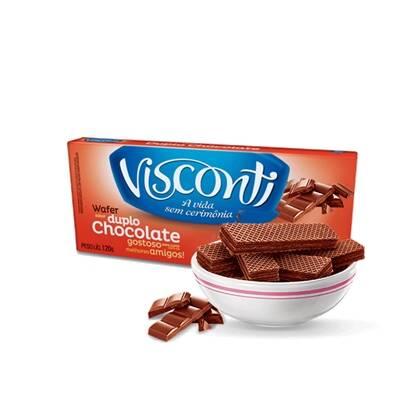 Onde comprar Biscoito Wafer Visconti Duplo Chocolate