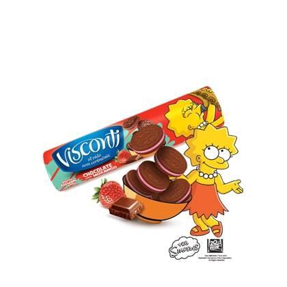 Onde comprar Biscoito Recheado Visconti Chocolate Com Morango