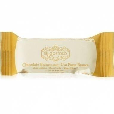Onde comprar Chocolate Branco com Uva Passa Branca 15g - Tri-Gostoso