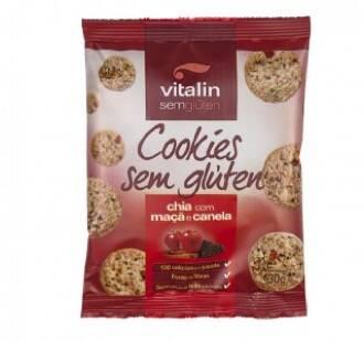 Onde comprar Cookies Sem Glúten Chia com Maçã e Canela 30g - Vitalin.