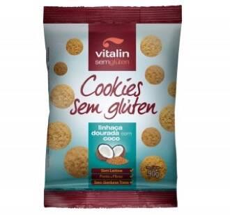 Onde comprar Cookies Sem Glúten de Linhaça Dourada com Coco 90g - Vitalin